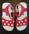 Toddler Girls Size 8 Red White Polka Dot Sandals Puddle Jumper Shoes NEW in Bag