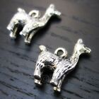 Llama Or Alpaca 18mm Antiqued Silver Plated Pendant Charms C8505 5 10 20PCs
