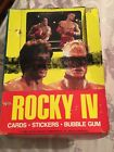 1985 TOPPS ROCKY IV (4) TRADING CARD BOX OF 23 WAX PACKS+WRAPPERS +PARTIAL SET