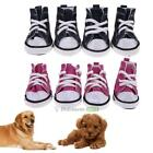 4pcs Pet Dog Boots Puppy Denim Sports Anti slip Shoes Sneakers For Small Dogs