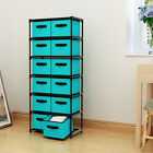 12 Drawers Storage Shelf Drawers tower Storage Chest with Non woven Fabric Bins