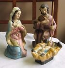 Vintage ITALY MARY JOSEPH JESUS PAPER MACHE 7 SCALE NATIVITY HOLY FAMILY