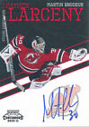 2010 11 Playoff Contenders #12 Martin Brodeur Leather Larceny Autograph Parallel