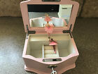 Pottery Barn Kids New Medium Abigail Jewelry Box Pink White Mono Choose Name NIB