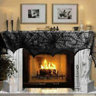 Black Spider Web Lace Tablecloth Halloween Party Indoor Bar Decor Table Cover