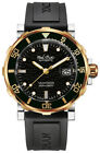 Paul Picot Yachtman III Stainless Steel & Gold Black Rubber Automatic Watch