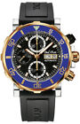 Paul Picot Yachtman III Chronograph Stainless Steel Gold & Black Automatic Watch