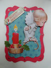 Scrapbooking Card Topper Die Cut Embellishment 3D Angel  Christmas Candle