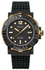Paul Picot C-Type Prolongeur PVD Stainless Steel & Gold Black Dial 43mm Watch