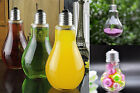 12PC Plastic Clear Light Bulbs Fillable Wedding Favors Baby Shower Holders Gift