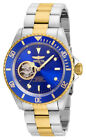 Invicta 21719 Mens Round Blue Gold Tone Automatic Analog Stainless Steel Watch