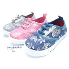 New toddler girls canvas tennis casual flat shoes 4 8