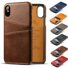 For iPhone X 7 8 Plus Leather Wallet Card Slot Holder Flip Stand Back Cover Case