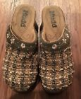 Mudd Womens Shoes Size7 Multi Color Fabric Slip On Clogs