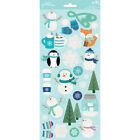 Pebbles Winter Wonderland Glitter Stickers Icons These Delightful Stickers Are