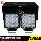 2 White 24W CREE LED Dually Pod Lights For Truck SUV Jeep Off Road ATV 4x4 etc