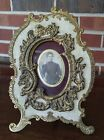 Antique Victorian Picture Frame Brass Free Standing Table Top Wall Hanging