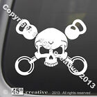 Crossfit Trainer Crossbones Decal Kettlebell gymnastic gym rings exercise gear