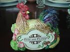 Fitz & and Floyd Large Retail Display Coq Du Village Sign Rooster French Country