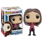 New Funko Pop MARVEL Civil War Scarlet Witch #133 Vinyl Figure Toys Kids GIfts