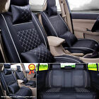 Full Set 5-seats Car Seat Cover Frontrear Cushion 100 Pu Leather W4pc Pillows