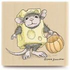 New House Mouse TRICK OR CHEESE Rubber Stamp Stampabilities Halloween Pumpkin