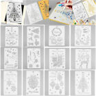 Christmas Plastic Flower Layering Stencils Album Stamping Drawing Template Tool