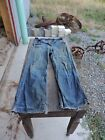 Rare Used Mens Boys Blue Denim Jean Pants 28 x 30 Buckle Back Old Clothes
