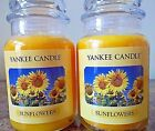 Yankee Candle Sunflowers 22 oz Lot of 2 NEW Candles Free Shipping Rare