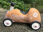 Vintage Classic Red Radio Flyer #8 Push-Ride Race Car Scooter Toy for Children