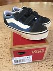 Vans Old Skool V Core Suede Sneakers Navy Baby Toddler Boys Size 85 EUC