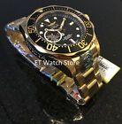 @New Invicta Grand Diver Automatic Open Heart Gold Tone Bracelet Watch 13709