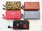 NWT Coach Small Double Zip Coin Case ID Wallet Leather F 57855 63921 15153 Purse