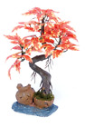 Bonsai Tree on Urn Red 8 inch ARTIFICIAL Plant Great Green Decoration Gift Idea