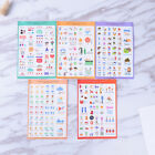 5 Sheets Lovely Paper Stickers For DIY Po Album Scrapbook Calendar Diary Set