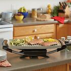 Electric Grill Ceramic Indoor Bbq Cooking Portable Outdoor Griddle Drip Tray