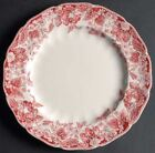 Johnson Brothers Strawberry Fair Old Chelsea Dinner Plate Set Ironstone Red