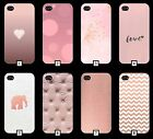 Rose Gold Phone Case Cover Pink Red Marble Funky Tumblr Stone 5 SE 6 7 5c + 157