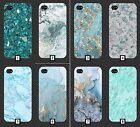 Turquoise Marble Phone Case Green Stones Stone Rhinestone Mint Cool Design PC132
