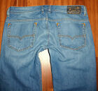 MENS AUTH DIESEL SAFADO 0RUS2 SLIM STRAIGHT BUTTON FLY JEANS SIZE 36X32