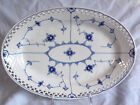 Rare BING & GRONDAHL Blue Traditional Full Lace 34cm PIERCED OVAL PLATTER 316.4