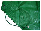 Yard Tarp Leaf Hauler Green 9 x 9 Ft