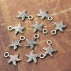 20 Tiny Starfish Charms Starfish Antiqued Tibetan Silver Double Sided 3D 16x12mm