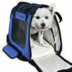 E ESS  CRAFT Blue Soft Airline Approved Pet Carrier Side Loading Sturdy Bottom