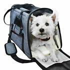 E ESS  CRAFT Grey Soft Airline Approved Pet Carrier Side Loading Sturdy Bottom