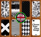 Black and White Phone Case Cover Design Pattern Floral Striped Chequered 530