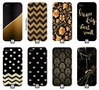 Black and Gold Phone Case Cover Design Pattern Marble Glitter Floral Cool 525