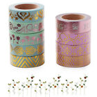 9Styles Japanese Washi Tape Scrapbooking DIY Paper Masking Sticky Decor Metallic