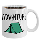 Camp Mug Adventure Tent Coffee Cup Gift For Camper or Hiker Stocking Stuffer