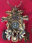 Large Antique W German Musical Black Forest Carved Cuckoo Clock Hunter Style